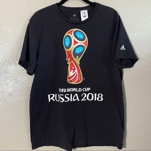 FIFA World Cup Russia 2018 Soccer Black T-shirt Lg